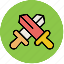 armaments, cross swords, swords, weapons icon