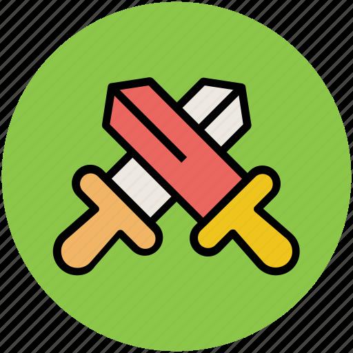 armaments, cross swords, swords, weapons icon