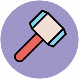 builders tool, hammer, hit, tool, weapon icon