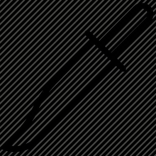 dagger, long, weapon icon