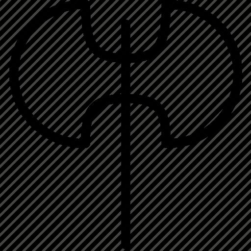axe, double, iron, weapon icon