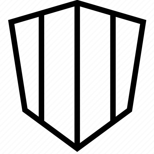 lines, protection, shield, stripes icon