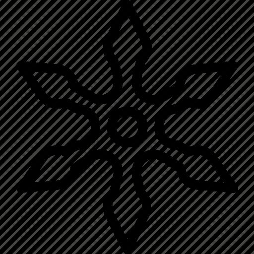 ninja, star, throwing, weapon icon