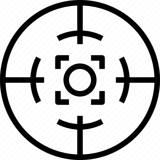 circle, dotted, mark, square, target icon
