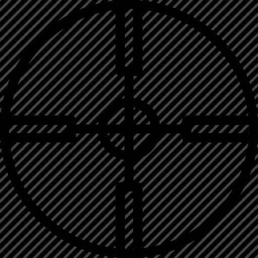 circle, cross, mark, target icon