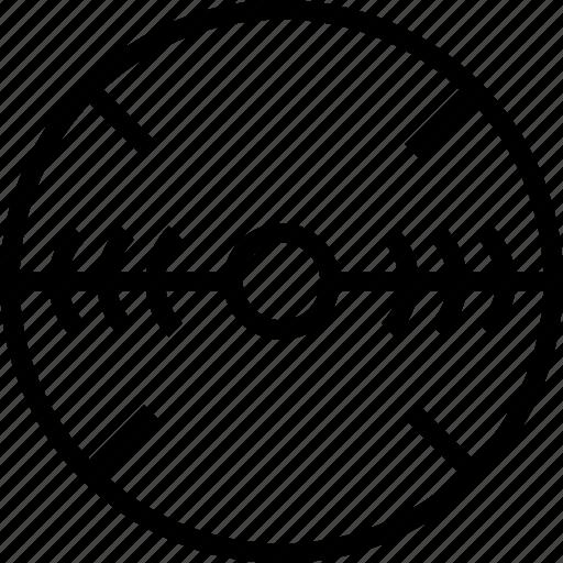 circle, line, mark, target icon