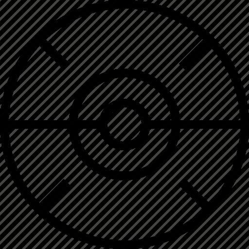 circle, cross, mark, target, triple icon