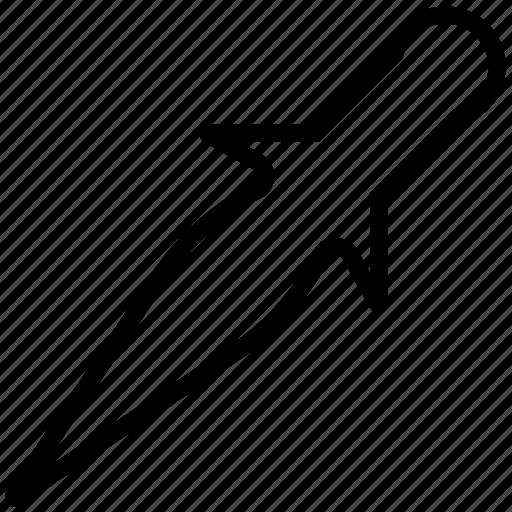 dagger, plain, straight, weapon icon