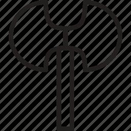 axe, double, edge, weapon icon