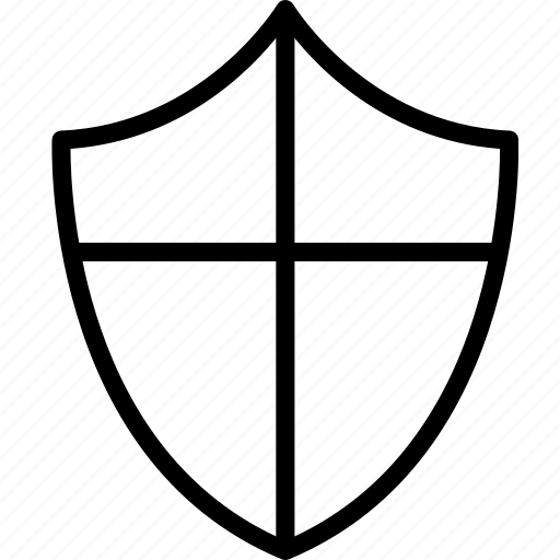 cross, lines, protection, shield icon