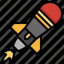 torpedo, bomb, missile, explosive, explosion icon