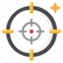 aim, target, sniper, shooting, weapons icon