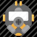 gas, mask, respirator, biological, hazard, chemical, weapon