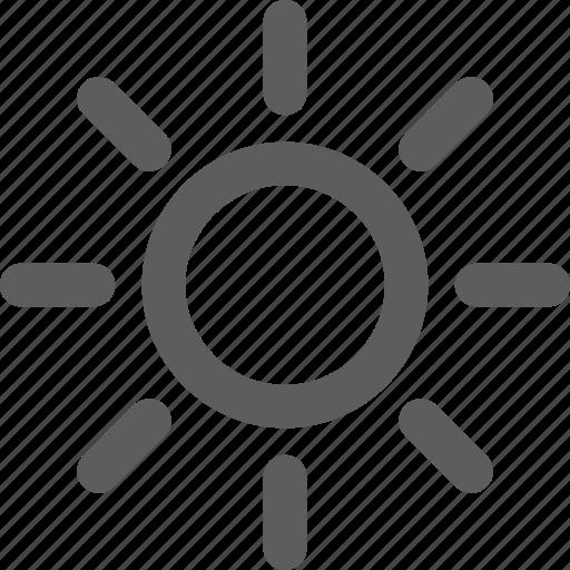 sun, sunny, weather icon