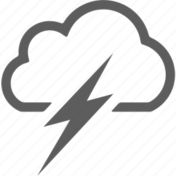 cloud, clouds, cloudy, lightning, weather icon