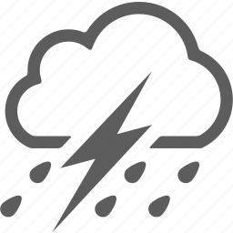 cloud, cloudy, lightning, rain, weather icon