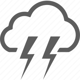 cloud, clouds, cloudy, lightning, rain, weather icon