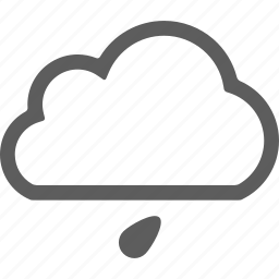 cloud, clouds, little rain, rain, weather icon