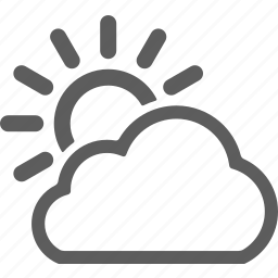 cloud, clouds, cloudy, sun, sunny, weather icon
