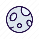 full, moon, night icon