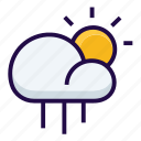 cloudy, rainy, weather icon
