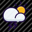 lightening, strom, thunderstorm icon