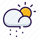 cloudy, partly, rain, weather icon