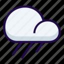 forecast, heavy, rain icon