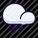 lightening, thunder, weather icon