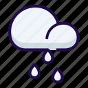cloudy, heavy, rain icon