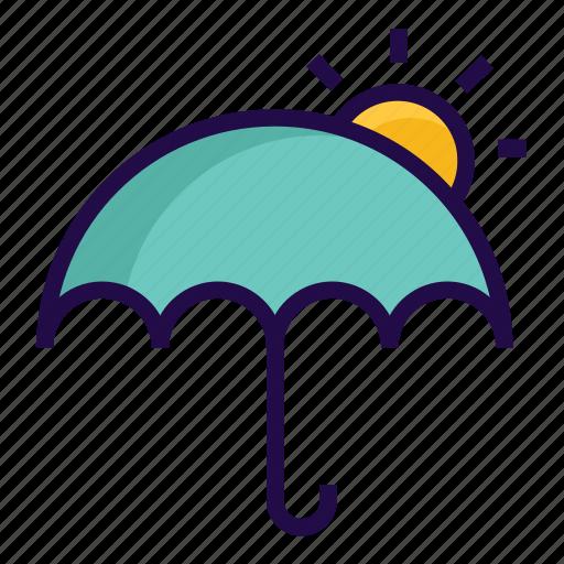 summer, sunny, umbrella icon