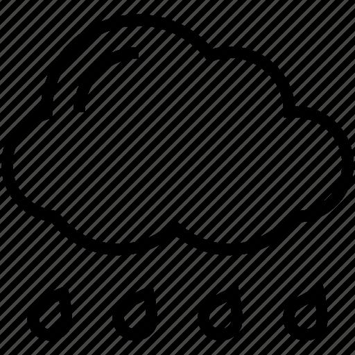 clouds, rain, raining, rainy climate, weather icon