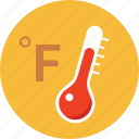 fahrenheit, forecast, hot, temperature, thermometer, warning, weather icon