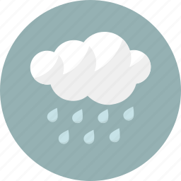 cloud, cloudy, forecast, rain, rainy, shower, weather icon