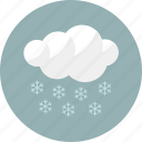 winter, snow, cloudy, forecast, weather, cloud icon