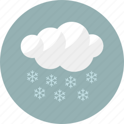 cloud, cloudy, forecast, snow, weather, winter icon