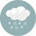 cloudy, forecast, rain, rainy, shower, snow, weather icon