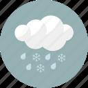 rainy, snow, rain, forecast, shower, weather, cloudy icon
