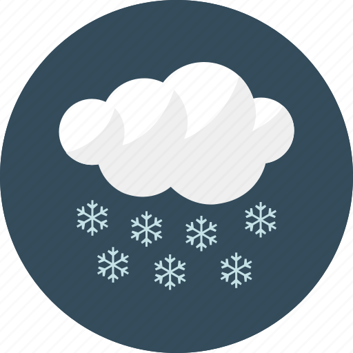 cloud, cloudy, forecast, night, snow, weather icon