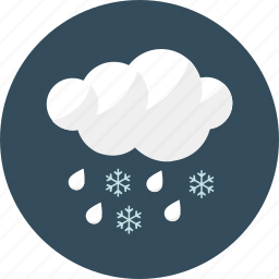 cloud, forecast, rain, rainy, shower, snow, weather icon