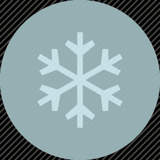flake, forecast, snow, weather, winter icon