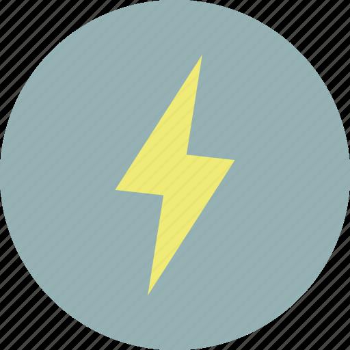flash, forecast, lightening, weather icon