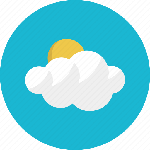 clear, cloud, cloudy, forecast, sun, weather icon