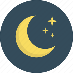 clear, forecast, moon, night, sleep, weather icon