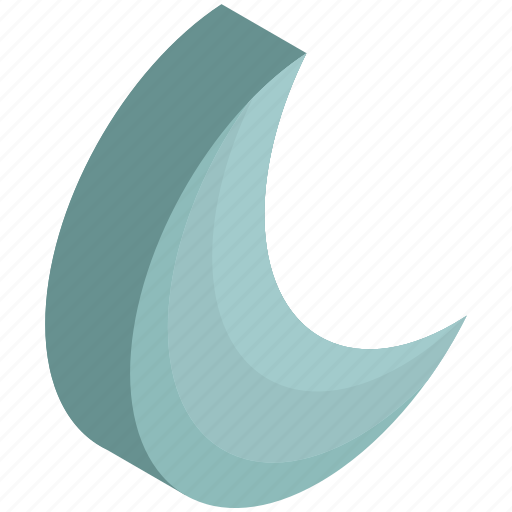 clear, crescent, moon, night, weather icon