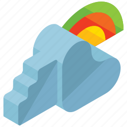 cloud, clouds, cloudy, rainbow, weather icon