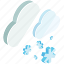 clouds, winter, snow, weather, snowflake, cloud