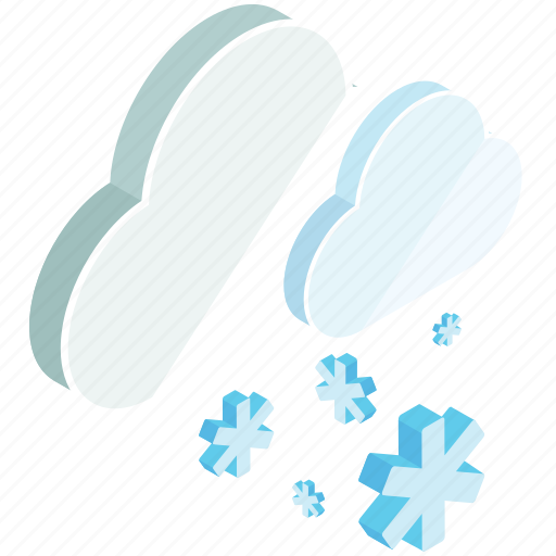 cloud, clouds, snow, snowflake, weather, winter icon