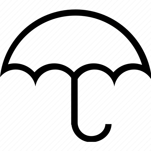 plain, umbrella, weather icon
