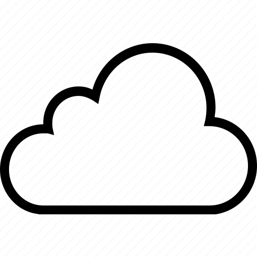 cloud, plain, weather icon